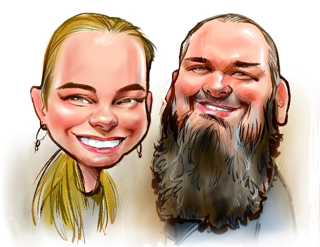 Studio caricatures and illustrations in Montreal Quebec