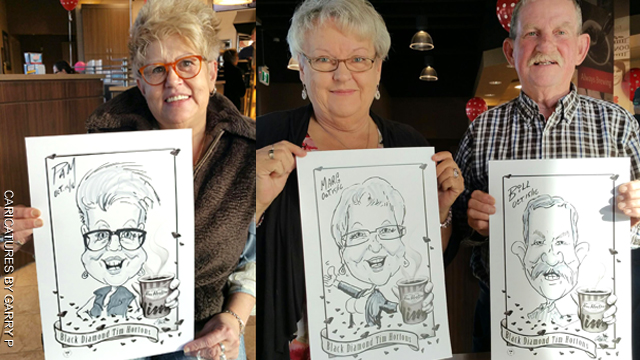 Digital party caricatures and illustrations in Quebec