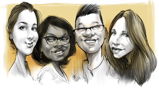 Montreal Studio caricatures and illustrations